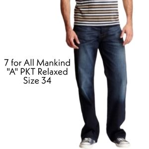 7 For All Mankind A Pocket Relaxed Jeans S…